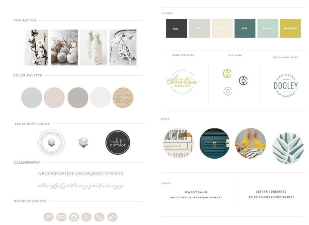brand design boards and color palette group 2 (1)
