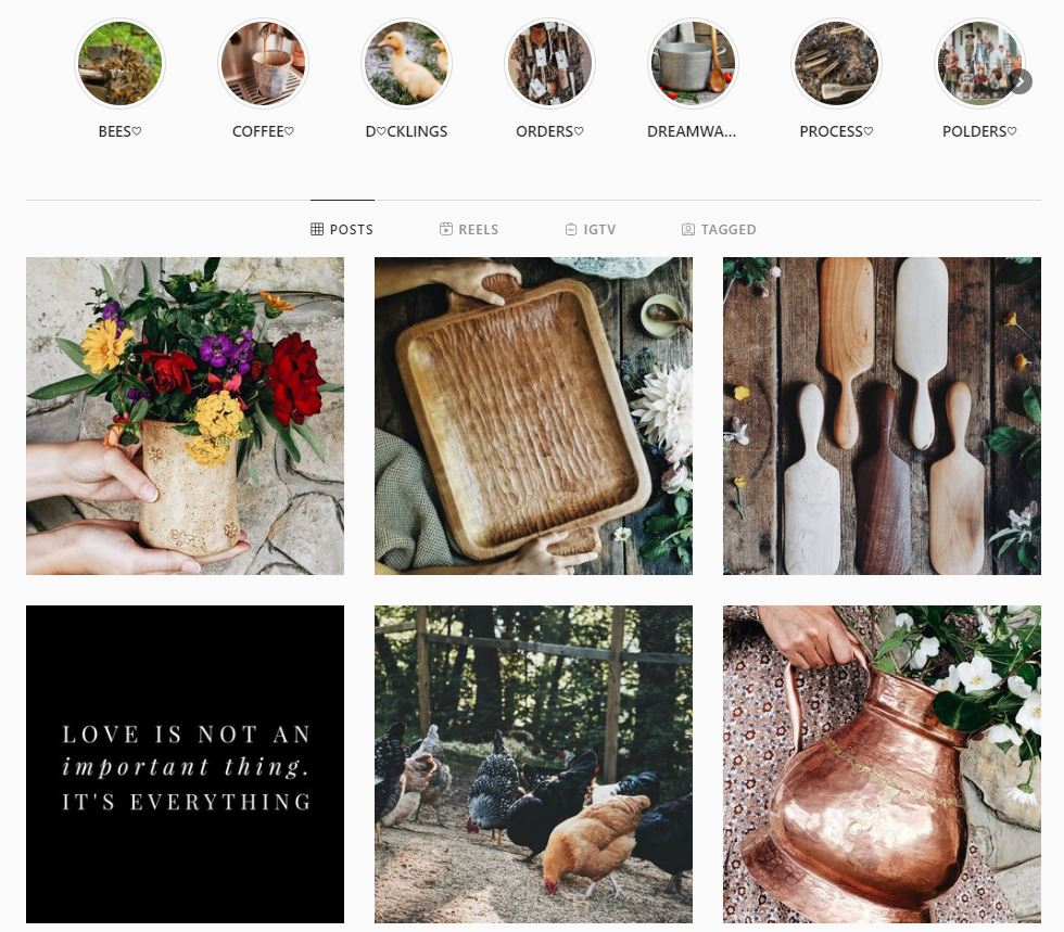 brand photography in social media - polders old world market