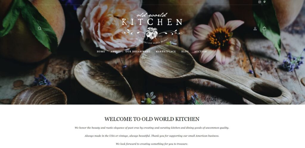 brand photography and product photography - old world kitchen