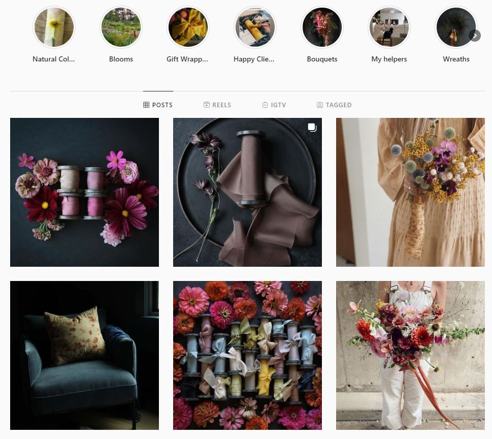 branding photography in social media - silk and willow